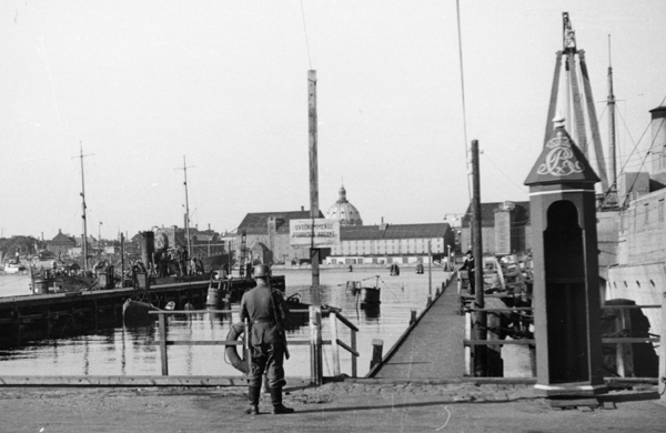 German Guard at the Naval Dockyard after August 29, 1943