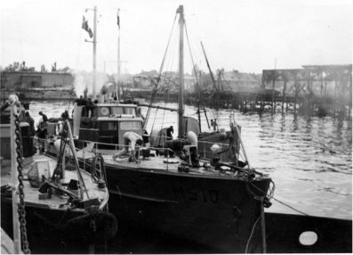 MS 3 and MS 5 photographed in the Tirpitzhafen the day after they were found in Laboe