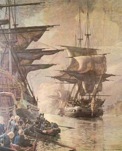 October 21 was a day of sorrow when the main part of the Danish navy left Copenhagen under the English flag