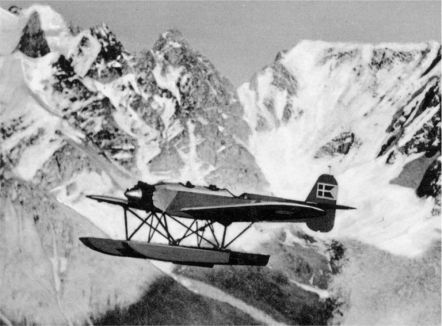 A HEINKEL H.E. 8 (H.M.II) during a flight in Greenland