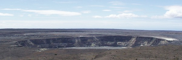 Halemaumau krateret på kilauea vulkanen på hawaii