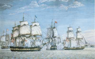 The battle off Tripoli, 1797.