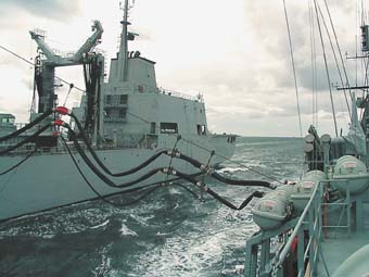 NIELS JUEL udfører Replenishment at Sea