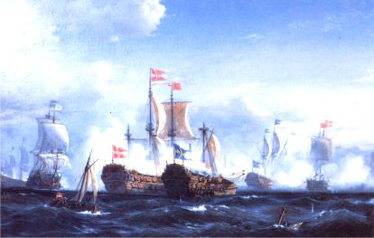 The battle of K�ge Bay, July 1, 1677