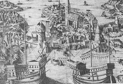 Christian II�s fleet off Stockholm Castle in 1521