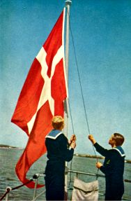 "The naval ensign, the ""Orlogsflaget""..."