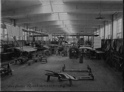 The Naval Dockyards first seaplane factory at Holmen in Copenhagen.