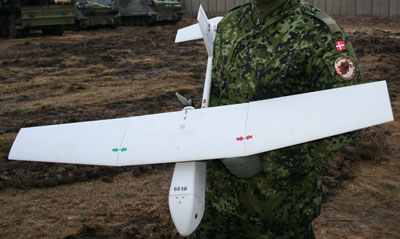 The RAVEN drone is an American-produced miniature unmanned aerial vehicle.