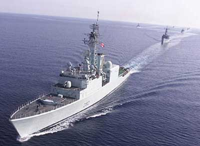 The destroyer HMCS ATHABASKAN