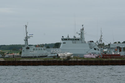 The patrol vessel FLYVEFISKEN seen here after arriving at Faaborg in May of last year