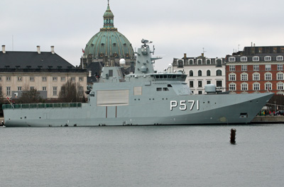 The offshore patrol vessel EJNAR MIKKELSEN