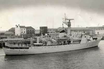 The offshore patrol frigate FYLLA in Dublin, 1978