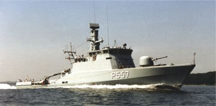 The patrol vessel GLENTEN