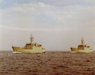 The two minelayers of the LINDORMEN Class