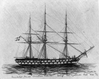 Ship of the line PRINDS CHRISTIAN FREDERIK
