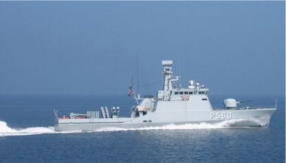 RAVNEN, is here seen equipped as a guided missile vessel