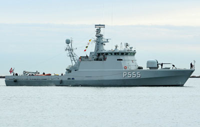 The patrol vessel STØREN, here fitted as a mine vessel