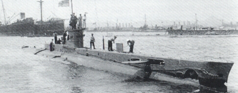 A submarine og the E-class (here the E14)