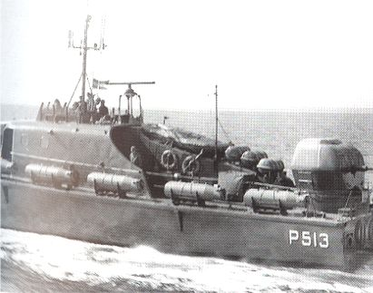 The Fast Patrol Boat S�HESTEN equipped as a small minelayer