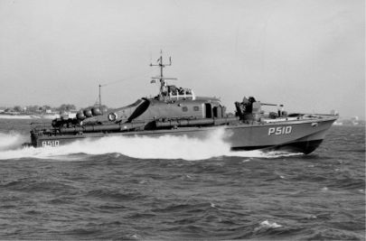 The Fast Patrol Boat S�L�VEN during initial sea trials