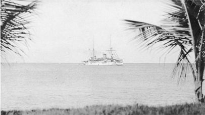 The Cruiser VALKYRIEN off the Danish West Indies