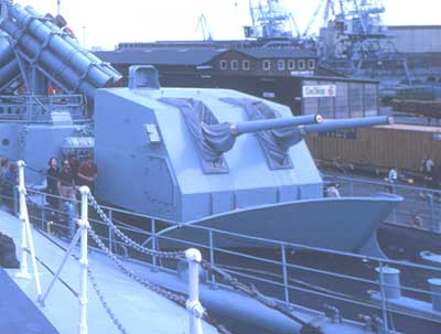The 127 mm Gun K M/60 LvSa2 mounted on the frigate PEDER SKRAM